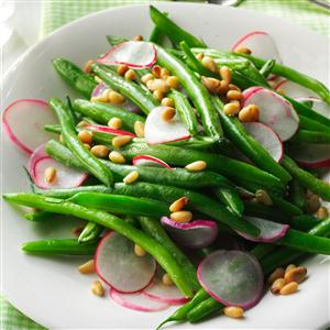 Sauteed Radishes with Green Beans Recipe