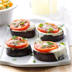 Grilled Eggplant Parmesan Stacks Recipe