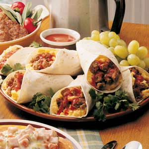 Zesty Breakfast Burritos Recipe