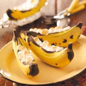 Banana boats recipe taste of home banana boats recipe forumfinder Choice Image