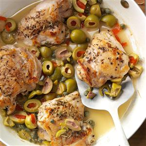 Skillet Chicken with Olives Recipe