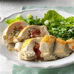 Pesto Rice-Stuffed Chicken Recipe