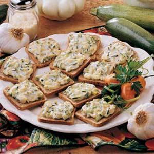 Toasted Zucchini Snacks Recipe