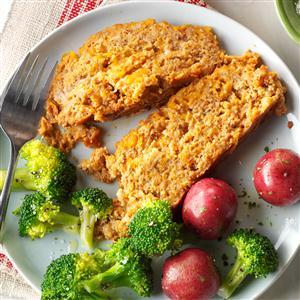 Cheesy Turkey Meat Loaf Recipe