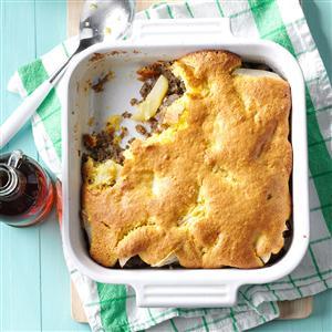 Sausage & Apple Corn Bread Bake Recipe