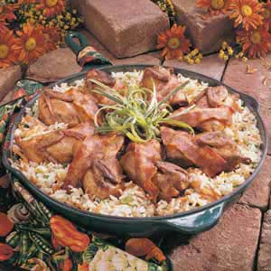 Quail With Rice Recipe