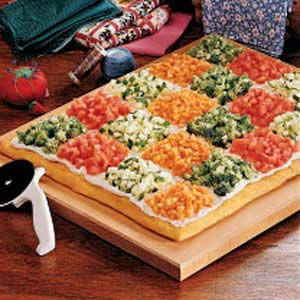 Patchwork Veggie Pizza Recipe
