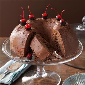 Chocolate-Cherry Brownie Cake Recipe