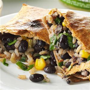 No-Fry Black Bean Chimichangas Recipe