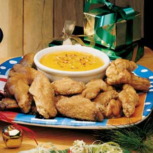Chicken Wings with Spicy Apricot Sauce Recipe