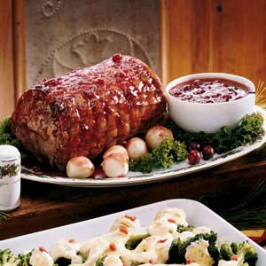 Festive Cranberry-Glazed Pork Roast Recipe