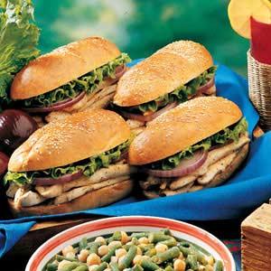 Broiled Chicken Sandwiches Recipe