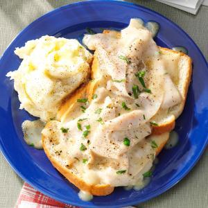 Blue Plate Open-Faced Turkey Sandwich Recipe