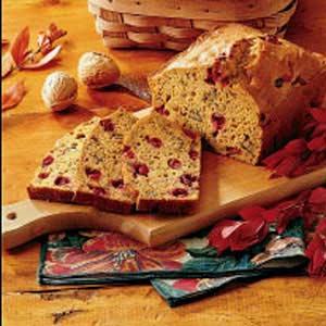 Cranberry Walnut Pumpkin Bread Recipe