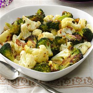 Roasted Broccoli & Cauliflower Recipe