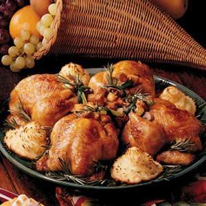 Apricot-Glazed Cornish Hens Recipe