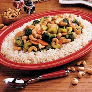 Cashew Chicken Stir-Fry Recipe