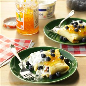 Blueberry-Orange Blintzes Recipe