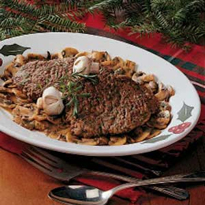 Mushroom Cube Steaks Recipe