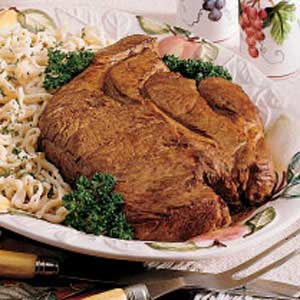 Chuck Roast with Homemade Noodles Recipe