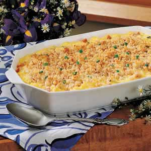 Scrambled Egg Casserole with Cheese Sauce Recipe