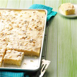 White Texas Sheet Cake Recipe Taste of Home