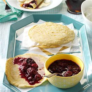 Dutch Pancakes with Berry Coulis Recipe