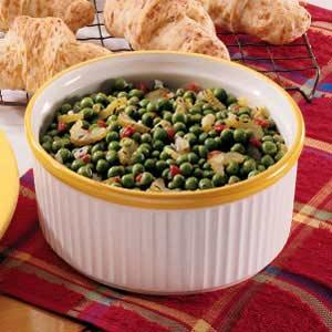 Zesty Buttered Peas Recipe