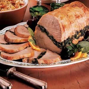 Spinach-Stuffed Pork Roast Recipe