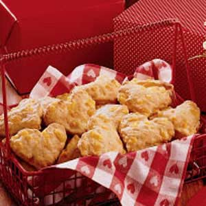 Heart-Shaped Cheese Scones Recipe