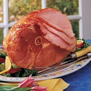 Apple-Mustard Glazed Ham Recipe