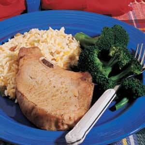 Pork Chops with Apricot Rice Recipe