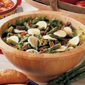 Hot Bacon Asparagus Salad Recipe