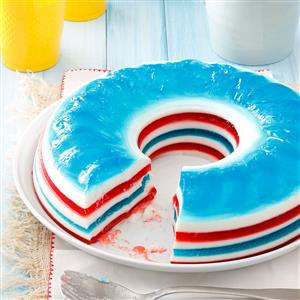 Patriotic Gelatin Salad Recipe
