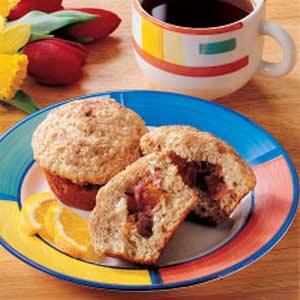 Cinnamon Rhubarb Muffins Recipe