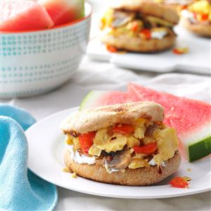 English Muffin Egg Sandwiches Recipe