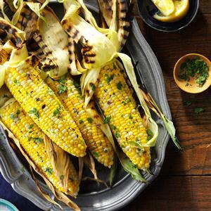 Basil Grilled Corn on the Cob Recipe