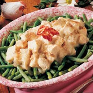 Creamed Chicken over Beans Recipe