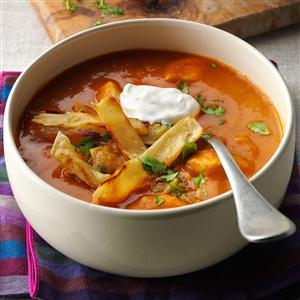 Anaheim Chicken Tortilla Soup Recipe