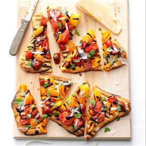 Grilled Tomato Pizzas Recipe