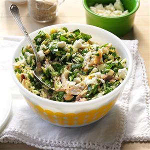 Double-Duty Chicken & Feta Spinach Salad Recipe