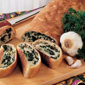 Spinach Cheese Swirls Recipe