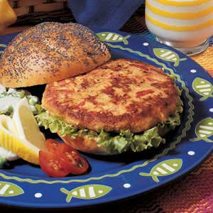 Zesty Salmon Burgers Recipe