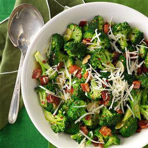 Broccoli with Garlic, Bacon & Parmesan Recipe