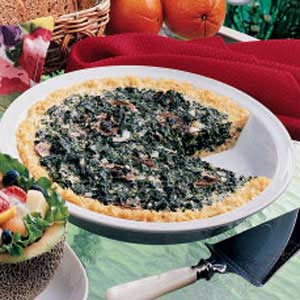 Rice-Crust Spinach Quiche Recipe