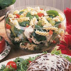 Chicken Spinach Pasta Salad Recipe