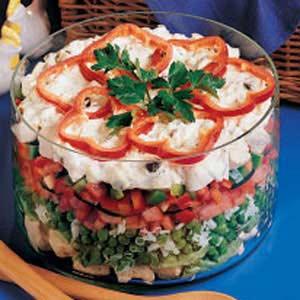 Layered Chicken Salad Recipe
