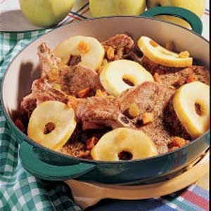 Pork Chops with Apple Rings Recipe