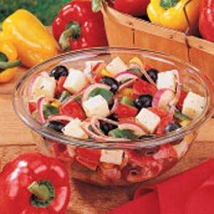 Grilled Three-Pepper Salad Recipe