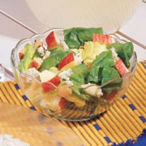 Apple-Nut Tossed Salad Recipe